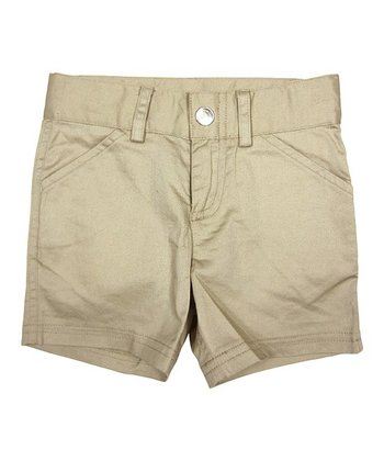 Beige License-To-Twill Shorts - Infant