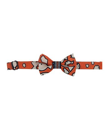 Orange Groucho Sharks Bow Tie