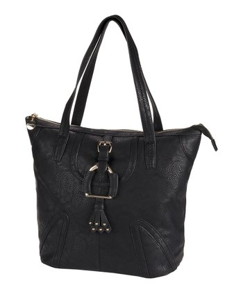 Black Buckle Tote