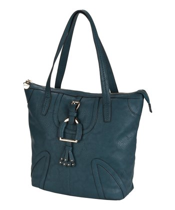 Deep Teal Buckle Tote