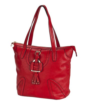 Red Buckle Tote