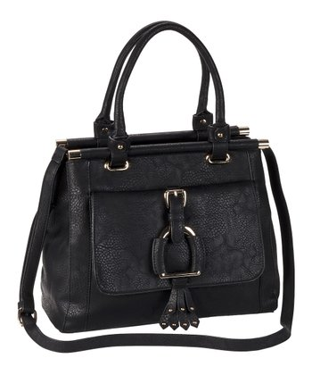 Black Buckle Satchel