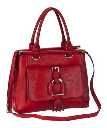 Red Buckle Satchel