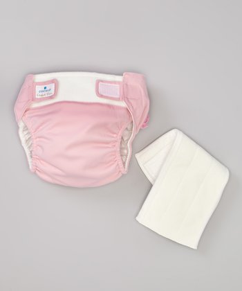 Pink Ruffle Reusable Cloth Diaper