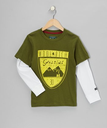 Hunter Green 'Grizzlies' Layered Tee - Infant, Toddler & Boys