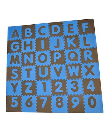 Blue & Brown ABCs Play Mat Set