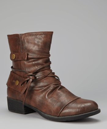 Cognac Low Apex Boot