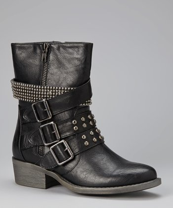 Black Studded Harper Boot