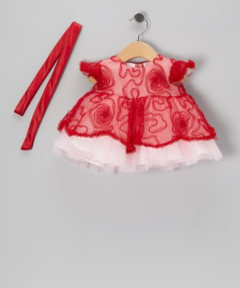 Red Ruffle Swirl Dress - Infant