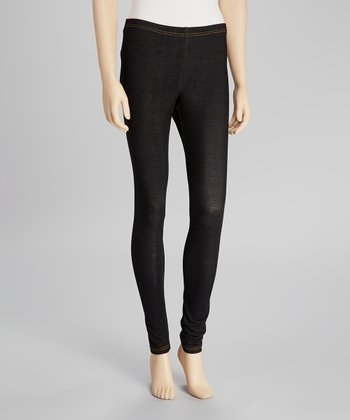 Black Denim Leggings