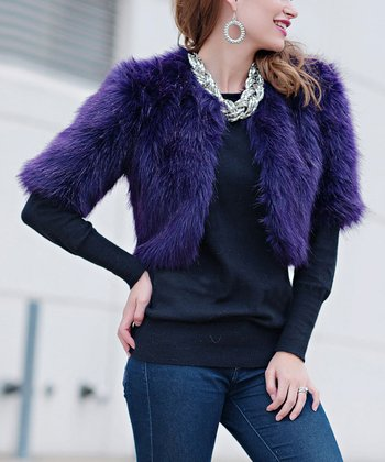 Amethyst Faux Fur Foxy Jacket - Women