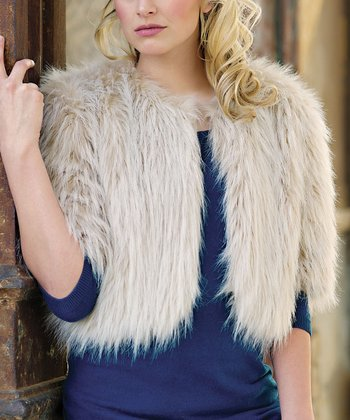 Sand Faux Fur Foxy Jacket - Women