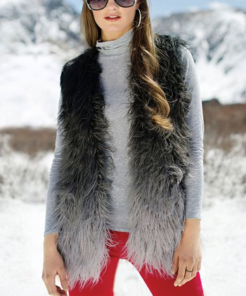 Gray Faux Pastiche Vest - Women