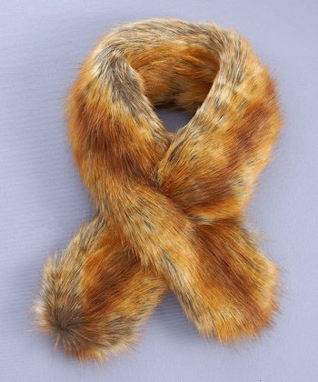 Golden Faux Fox Scarf
