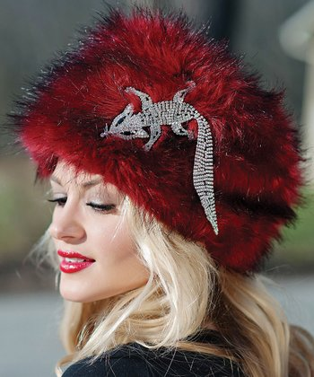 Ruby Faux Fox Hat