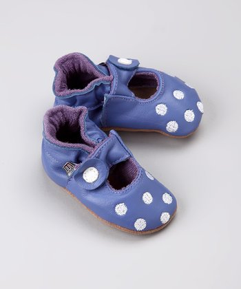 Purple Dot Leather Mary Jane - Infant & Toddler