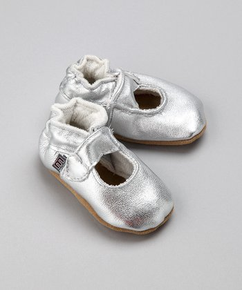 Silver Leather Mary Jane - Infant & Toddler