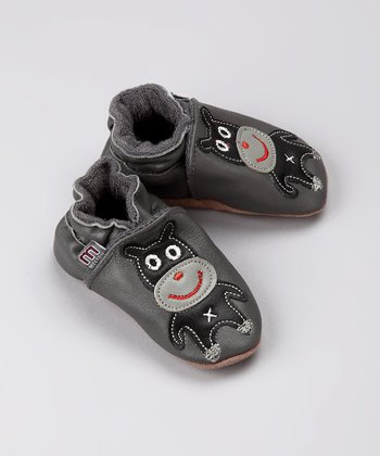 Gray Dog Leather Slip-On Shoe - Infant & Toddler