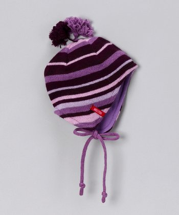Pink Stripe Pom-Pom Beanie - Infant & Toddler