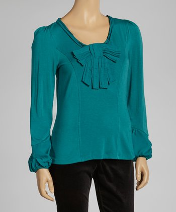 Teal Bow Top