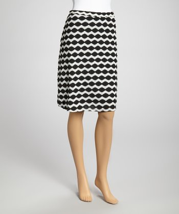 Black & White Wave Skirt