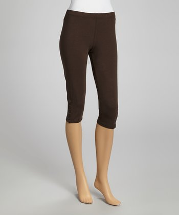 Brown Capri Lounge Pants
