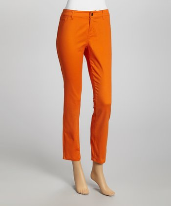 Rust Cropped Pants