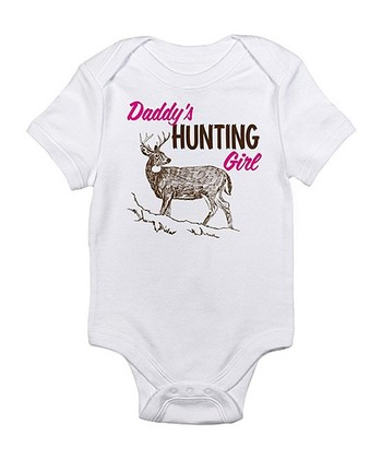 Cloud White 'Daddy's Hunting Girl' Bodysuit - Infant