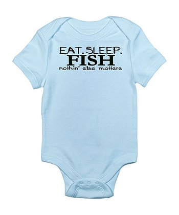 Sky Blue 'Eat. Sleep. Fish.' Bodysuit - Infant
