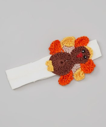 Ivory & Brown Turkey Headband
