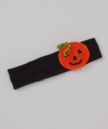 Black & Orange Pumpkin Headband