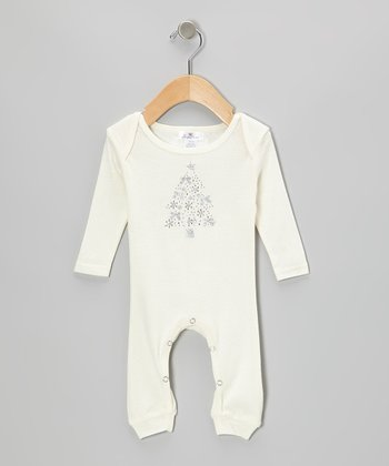 Ivory Christmas Tree Playsuit