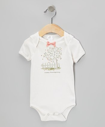 Ivory 'Happy Thanksgiving' Bodysuit - Infant