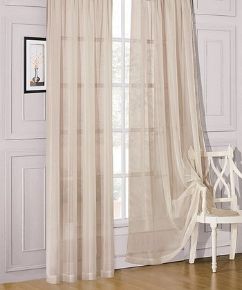 Taupe Sheer Celine Curtain Panel