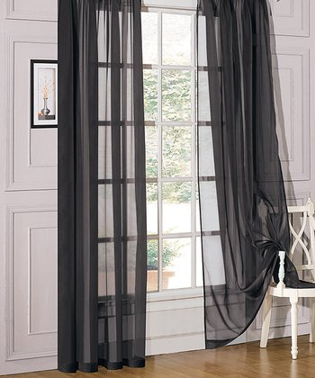 Black Sheer Celine Window Panel