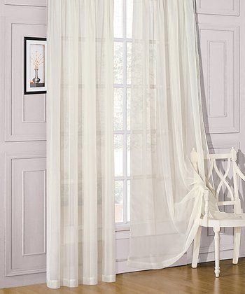 Champagne Sheer Celine Window Panel