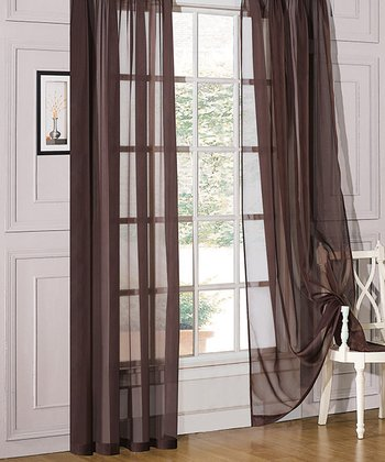 Chocolate Sheer Celine Window Panel