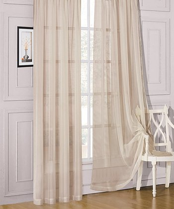 Ivory Sheer Celine Window Panel