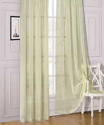 Sage Sheer Celine Window Panel
