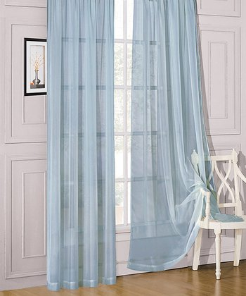 Blue Sheer Celine Window Panel