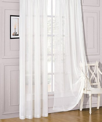 White Sheer Celine Window Panel