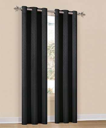 Black Hampton Curtain Panel