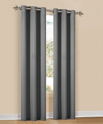 Silver Hampton Curtain Panel