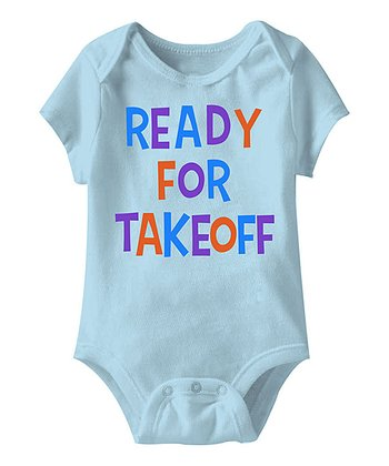 Light Blue 'Ready for Takeoff' Bodysuit