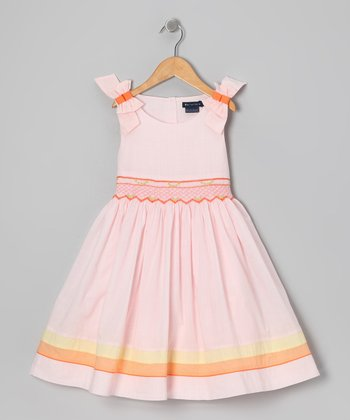 Pink Daesha Smocked Dress - Toddler & Girls