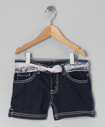Midnight Wash Dalianne Shorts - Toddler & Girls