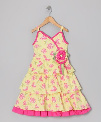 Yellow Daphne Dress - Toddler & Girls