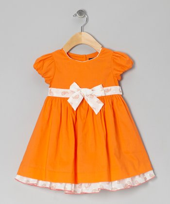 Orange Diana Dress - Toddler & Girls