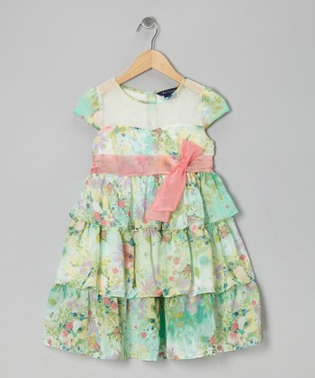 Green Dixie Dress - Toddler & Girls