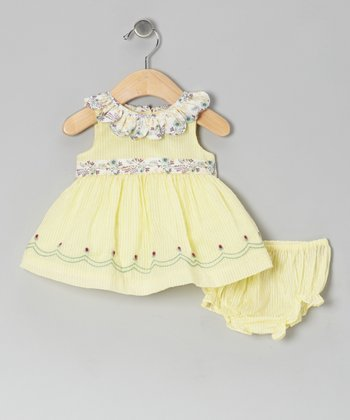 Yellow Ella Dress & Diaper Cover - Infant